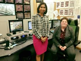 Local MP Visits Fareham & Gosport CCTV Control Room